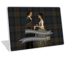Outlander/Jamie & Claire Fraser Wedding Vow Laptop Skin
