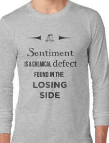 Sherlock Holmes sentiment quote [black and white] Long Sleeve T-Shirt