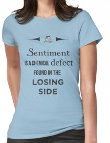 Sherlock Holmes sentiment quote [black and white] Womens Fitted T-Shirt