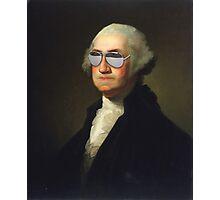 President George Washington Swag Glasses Portrait Photographic Print