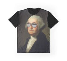 President George Washington Swag Glasses Portrait Graphic T-Shirt