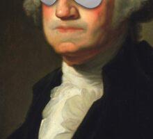 President George Washington Swag Glasses Portrait Sticker