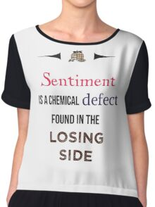 Sherlock Holmes sentiment quote [colored] Chiffon Top