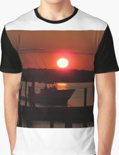 Boating At Sunset Graphic T-Shirt
