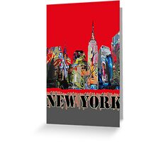 New York City in Graffiti Greeting Card