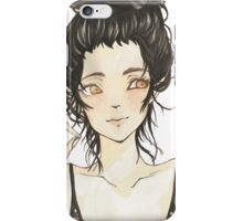 Beauty and dark hair - Manga iPhone Case/Skin
