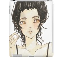 Beauty and dark hair - Manga iPad Case/Skin