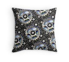 Steampunk Cogs Throw Pillow