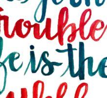 We Got No Troubles Life is the Bubbles Sticker