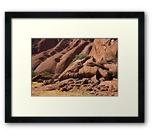 Uluru Base 1 Framed Print