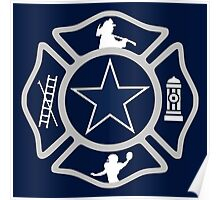 Dallas Fire - Cowboys Style Poster