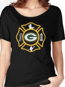 Green Bay Fire - Packers Style Women's Relaxed Fit T-Shirt