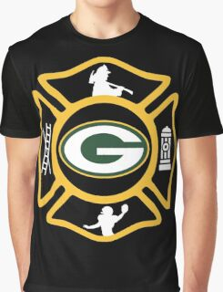 Green Bay Fire - Packers Style Graphic T-Shirt