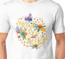 Read More Books - Floral Gold Unisex T-Shirt