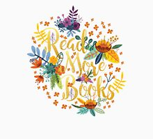 Read More Books - Floral Gold Unisex T-Shirt