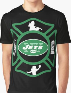 FDNY - Jets Style Graphic T-Shirt