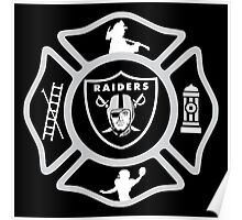 Oakland Fire - Raiders Style Poster