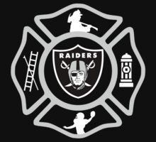 Oakland Fire - Raiders Style Kids Tee