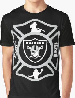 Oakland Fire - Raiders Style Graphic T-Shirt