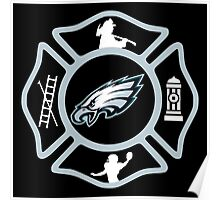 Philadelphia Fire - Eagles Style Poster