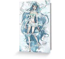Net of wonder - Manga Greeting Card