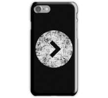 Arrow In A Circle - White iPhone Case/Skin