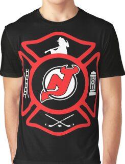 Newark Fire - Devils Style Graphic T-Shirt