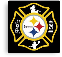 Pittsburgh Fire - Steelers Style Canvas Print