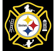 Pittsburgh Fire - Steelers Style Photographic Print