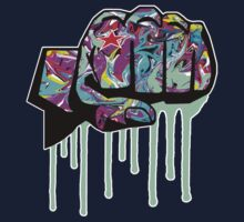 Graffiti covered fist One Piece - Long Sleeve