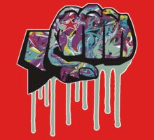 Graffiti covered fist Baby Tee