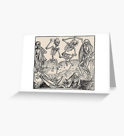 Totentanz / Dance of macabre Greeting Card