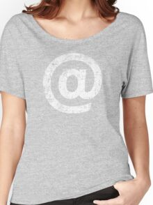 At Mark ( @ ) - White Women's Relaxed Fit T-Shirt