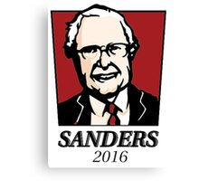 Colonel Bernie Sanders Canvas Print