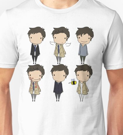 The Many Faces of Castiel Unisex T-Shirt