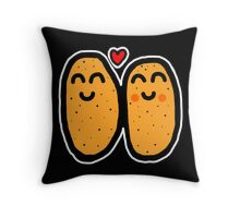 Two Potatoes Throw Pillow
