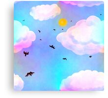 Dreamclouds Seamless Pattern Canvas Print