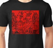 Totentanz / Dance of macabre - red Unisex T-Shirt