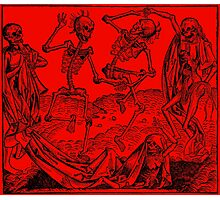 Totentanz / Dance of macabre - red Photographic Print