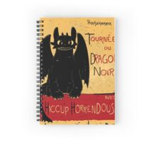 Le Dragon Noir Spiral Notebook
