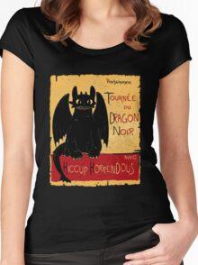 Le Dragon Noir Women's Fitted Scoop T-Shirt