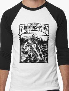 the black crowes gagak white 2016 Men's Baseball ¾ T-Shirt