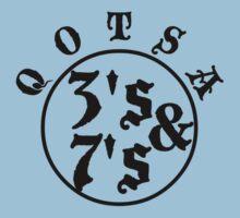 Qotsa 3s & 7s Baseball Shirt Design Kids Tee