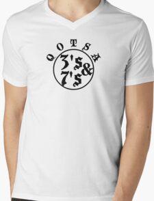 Qotsa 3s & 7s Baseball Shirt Design Mens V-Neck T-Shirt