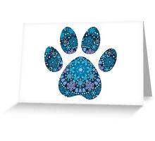 Dog Paw Print, Bohemian Snowflakes Greeting Card