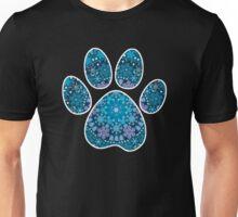 Dog Paw Print, Bohemian Snowflakes Unisex T-Shirt