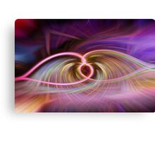 Abstract purple leaf Canvas Print