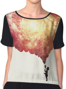The universe in a soap-bubble! Chiffon Top