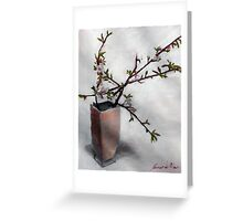 almond blossum in vase Greeting Card
