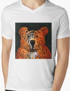 Honey Bear Large Mens V-Neck T-Shirt